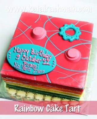 Fancy Rainbow Cake  large