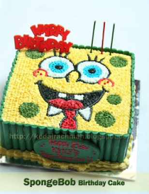 Sponge Bob 2D Birthday Cake  large